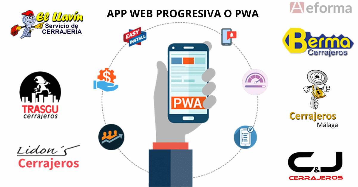 app web progresiva cerrajeros autocerrajeros aeforma