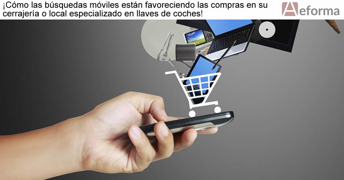 Cómo las búsquedas móviles están favoreciendo las compras en su cerrajería o local especializado en llaves de coches