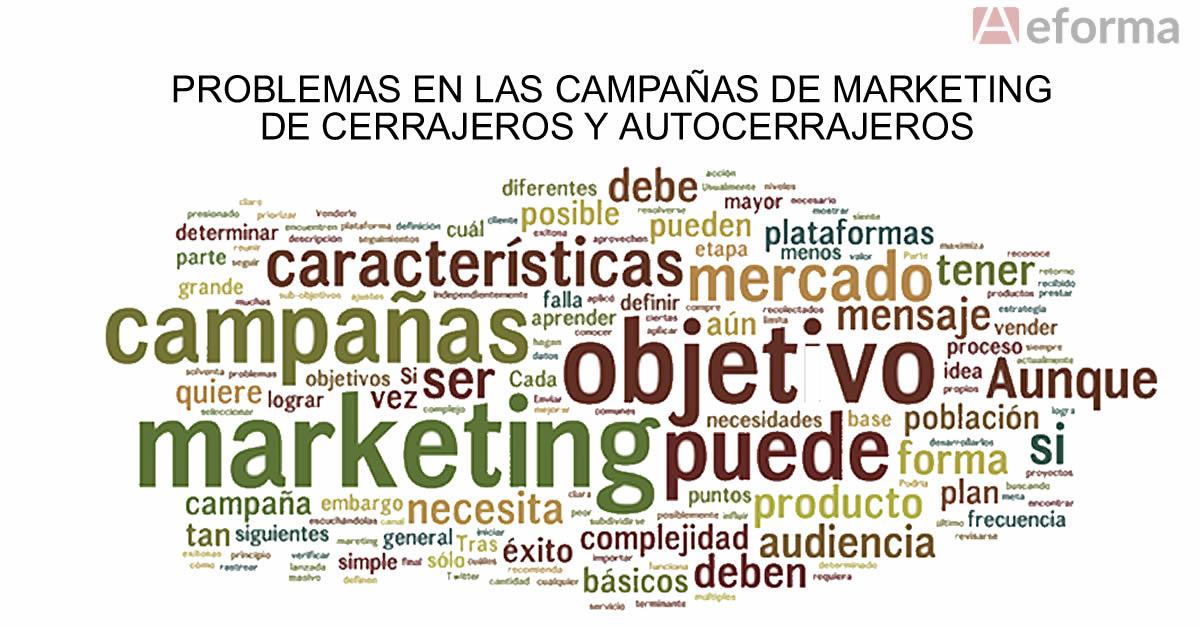 actividad campaña marketing internet cerrajeria autocerrajeros aeforma