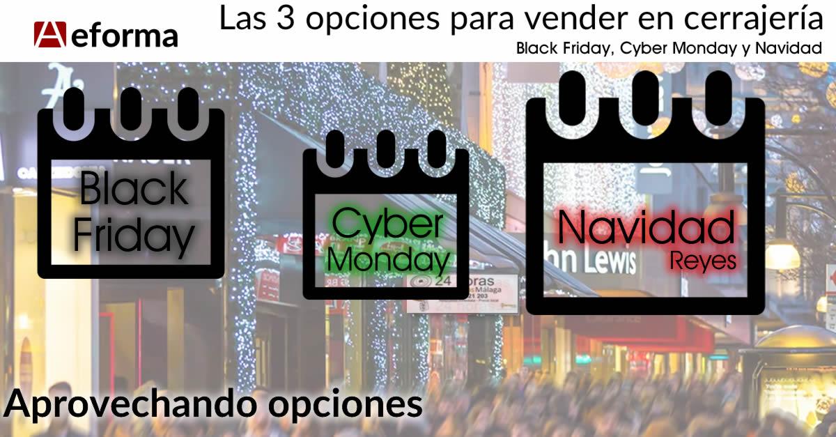 black friday cyber monday navidad cerrajerias marketing publicidad aeforma