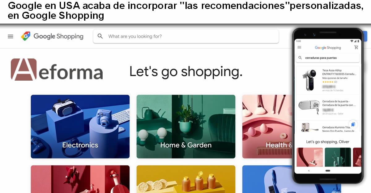 google incorpora recomendaciones google shopping cerrajeros aeforma