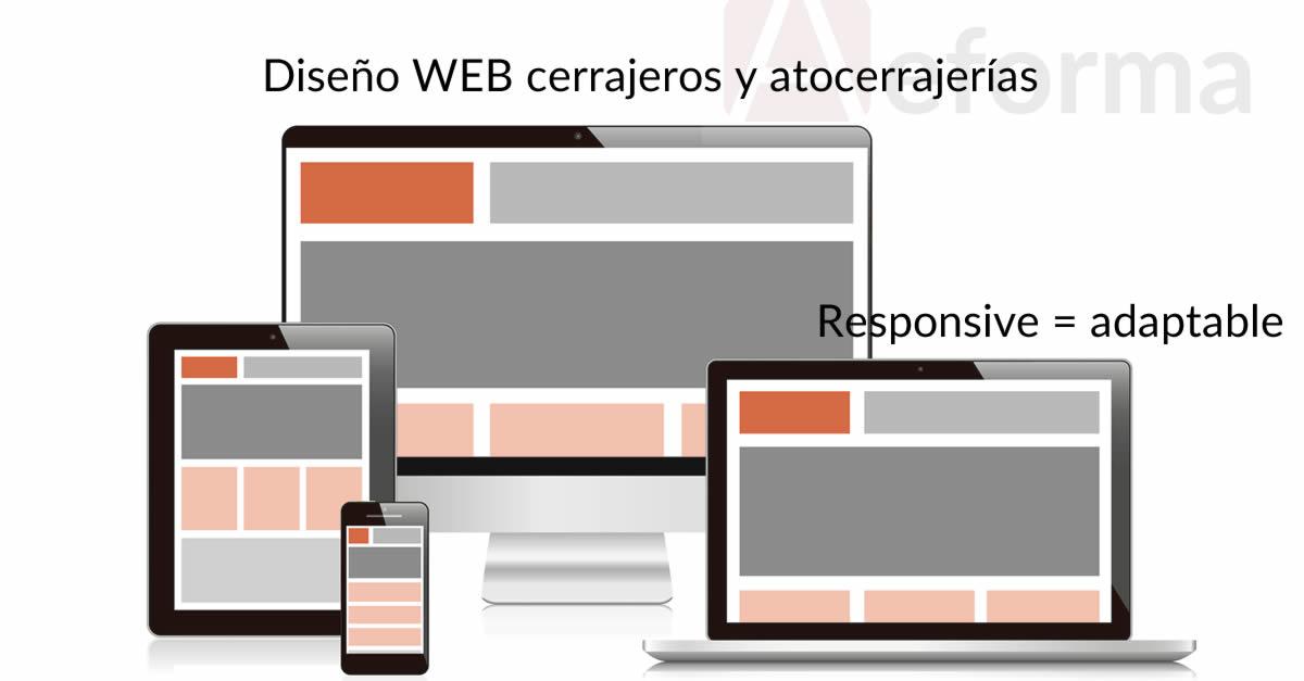 diseno web responsive cerrajerias autocerrajerias aeforma