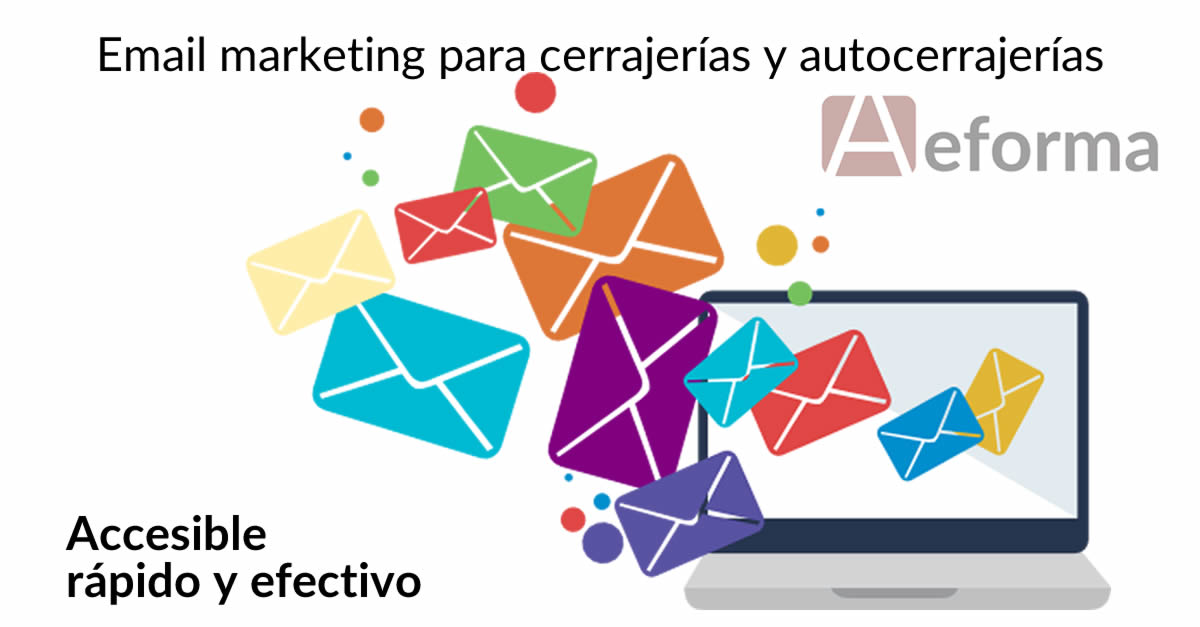 email marketing cerrajerias autocerrajerias con aeforma