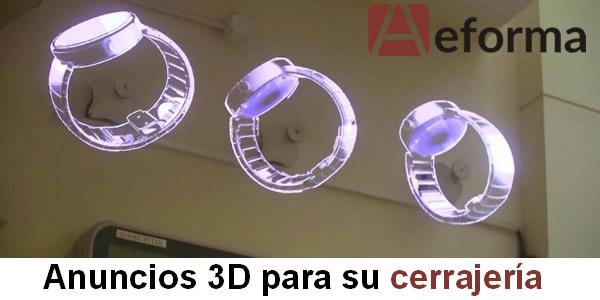 helices holograma 3d para anuncios de su cerrajeria