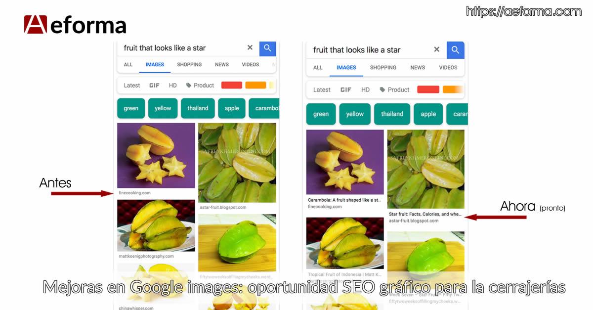 mejoras google images seo cerrajeros oportunidad con aeforma