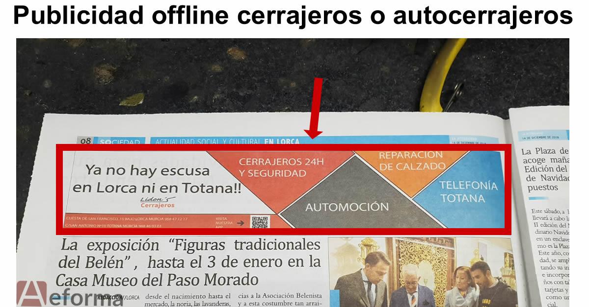 publicidad offline cerrajeros autocerrajeros aeforma