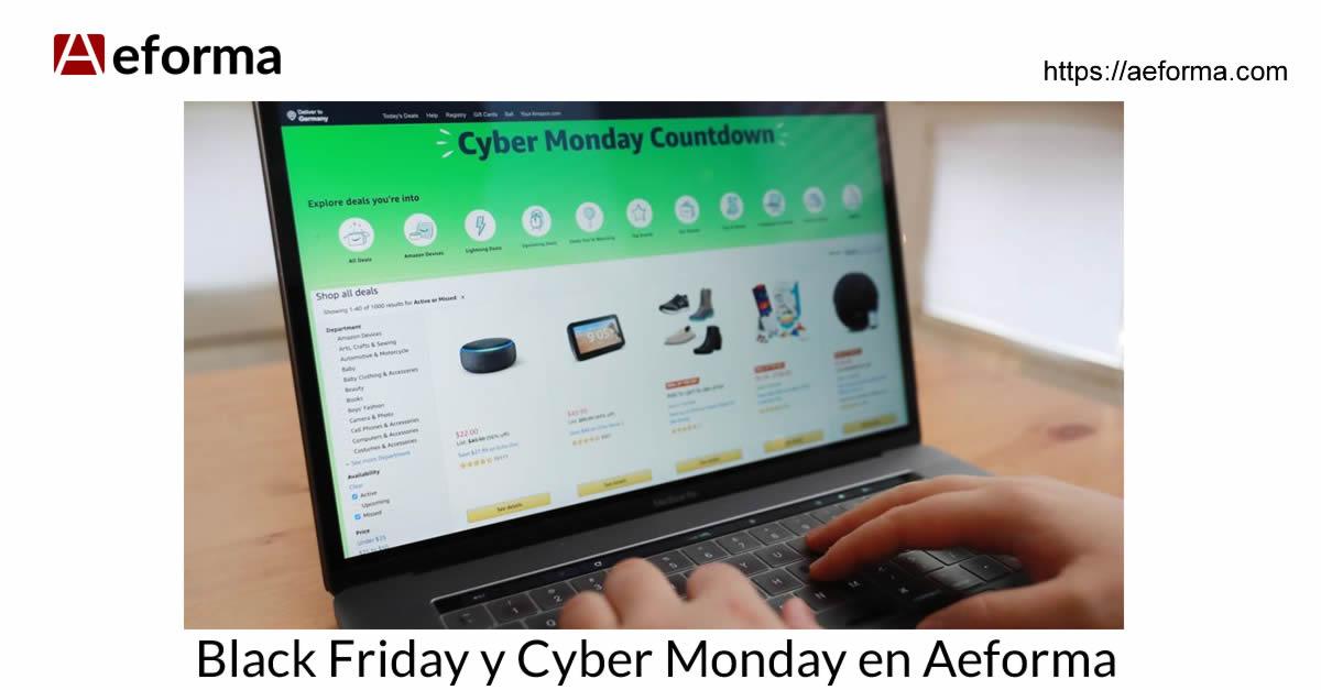 black friday cyber monday aeforma tienda online diseño web
