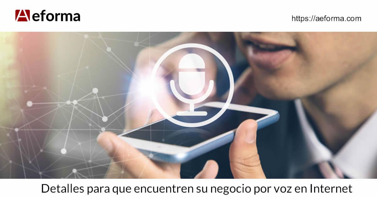 Búsqueda de negocios de cerrajería y llaves de coches mediante voz por Internet fácil con Aeforma